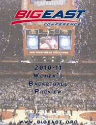 Full page photo print - Big East Conference
