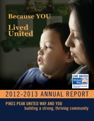 to download a copy - Pikes Peak United Way