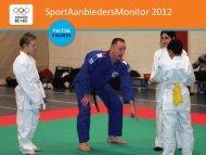 SportAanbiedersMonitor 2012 - NOC*NSF