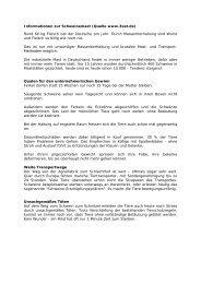 Informationen zur Schweinemast (Quelle www.3sat ... - kv-tonkegel.de