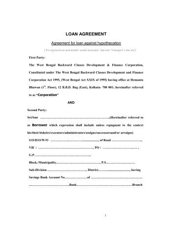 Car Loan Customer Agreement - Reliance Commercial Finance