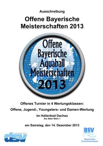 Bayrische Aquaball Meisterschaft 2013 - Aquaball.de