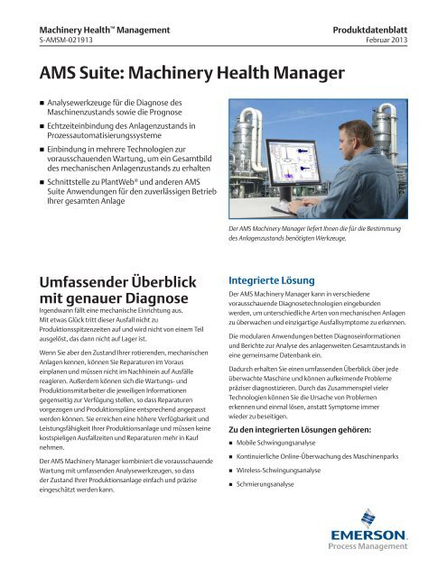 AMS Suite: Machinery Health Manager - Emerson Process ...