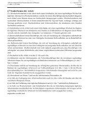 § 7 Sonderformen der Arbeit - Directserver.org