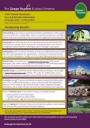 Membership Benefits - Green Tourism