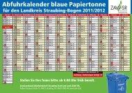 Abfuhrkalender blaue Papiertonne - ZAW-SR