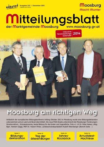 Gemeindezeitung Dezember 2013 ist online! - Marktgemeinde ...