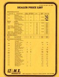 75 mongoose pricelist - Vintage Mongoose
