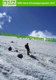Schulungsprogramm 2013 - JDAV Nord