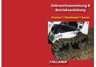Gebrauchsanweisung & Betriebsanleitung - McLaren Industries
