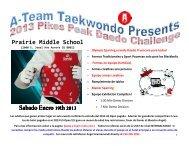 2013 Pikes Peak Daedo Challenge Info Packet - Spanish Copy