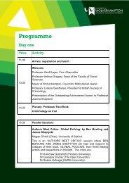 Programme - University of Wolverhampton