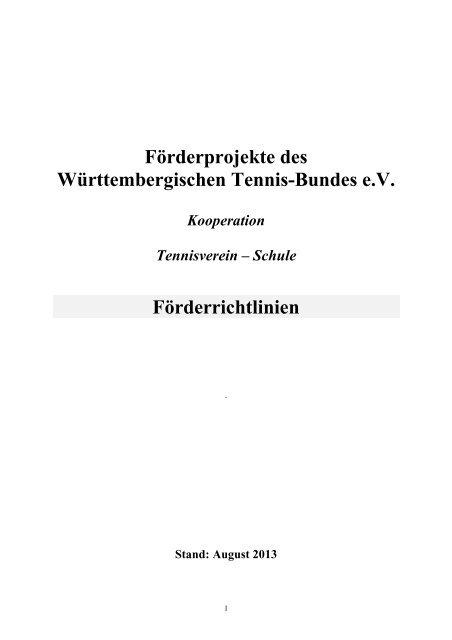 Förderrichtlinien Stand Februar 2013 - WTB