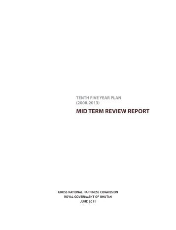 mid term review report - Gross National Happiness Commission
