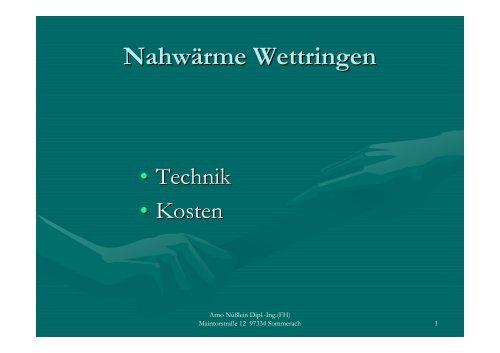 Nahwärme Wettringen - Wettringen.biz