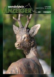 Ausgabe vom August 2013 - Wendelstein Anzeiger