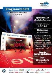 Programmheft 2013 - BMW Frankfurt Marathon
