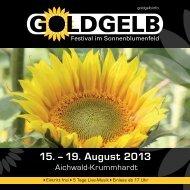 15. – 19. August 2013 - Goldgelb