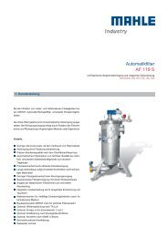 Automatikfilter AF 119 S - MAHLE Industry