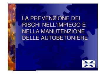 la prevenzione dei rischi nell'impiego e nella manutenzione delle ...