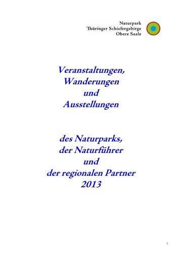 Veranstaltungen, Wanderungen und Ausstellungen des Naturparks ...