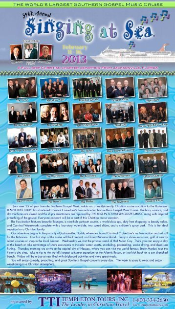 Download PDF - 2014 Singing at Sea Cruise ... - Squire Parsons