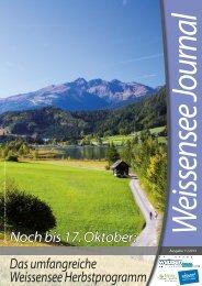 Noch bis 17. Oktober: Das umfangreiche Weissensee ...