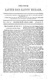 The True Latter Day Saints Herald Volume 4 - 1863