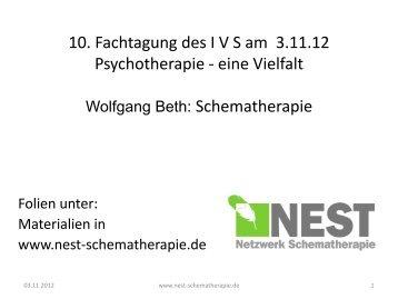 Schematherapie (Vortrag als PDF)