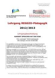 Lehrgang REGGIO-Pädagogik 2012/2013 - Bildungsinstitut für ...