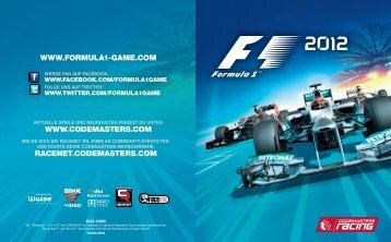 WWW.FORMULA1-GAME.COM WWW.CODEMASTERS.COM ...
