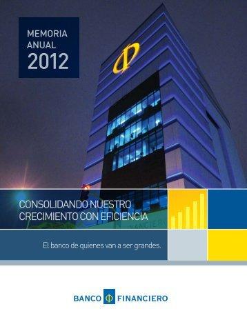 Memoria 2012 - Banco Financiero