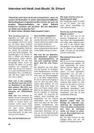 Interview mit Heidi Jost-Stucki, St. Erhard - Natur im Bild