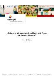 """""""Rollenverteilung zwischen Mann und Frau – die ... - Ayampe eV"""