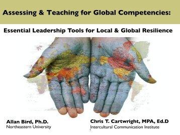Assessing & Teaching for Global Competencies: - Intercultural ...