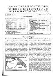 monatsberichte des wiener instituts für wirtschaftsforschung - Wifo