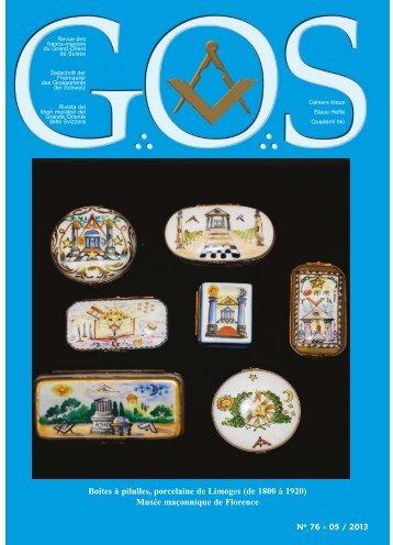 GOS N°76 - Grand Orient de Suisse
