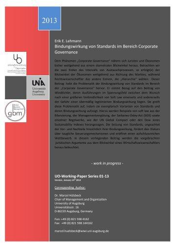 Vortrag Augsburg - WiWi - Universität Augsburg