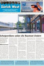 Schulpavillons sollen die Raumnot lindern - Lokalinfo AG