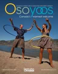view the Visitor Guide - Destination Osoyoos