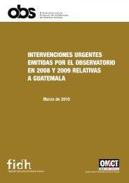 Compilacion del Observatorio sobre casos de defensores ... - FIDH