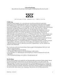 INTEGRATED ORBITAL IMPLANTS - Bio-Eye Orbital Implants