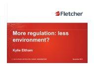More regulation: less environment? - GEMS Event Management