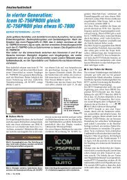 In vierter Generation: Icom IC-756PROIII gleich IC-756PROII plus ...