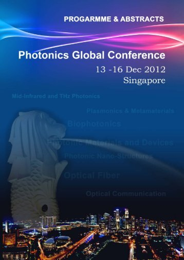 Full page photo print - Photonics Global Conference