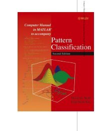 Computer Manual in MATLAB to Accompany Pattern Classification ...