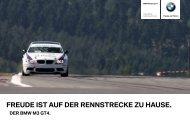 Freude ist auF der rennstrecke zu Hause. - BMW Motorsport