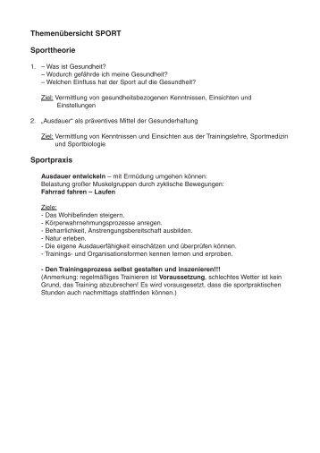 2. Biologie/Chemie/Sport