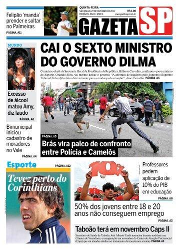 Cai o sexto ministro do governo dilma - Gazeta SP