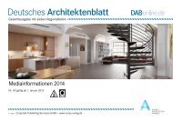 Deutsches Architektenblatt - corps. Corporate Publishing Services